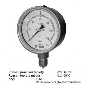 Průmyslové manometry typu MS-100K