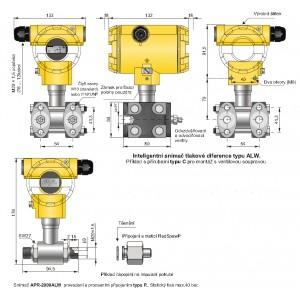 Inteligentní snímač tlakových rozdílů APR-2000ALW