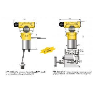 Inteligentní snímač tlakových rozdílů plynů APR-2000GALW