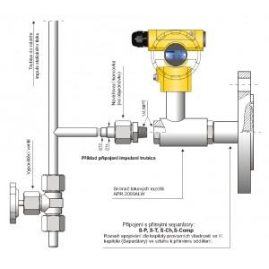 Snímače tlakových rozdílů s přímými separátory