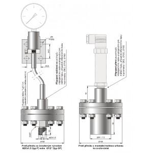 Kompaktní separátor s velkou membránou a demontovatelnou protipřírubou typu S-Comp