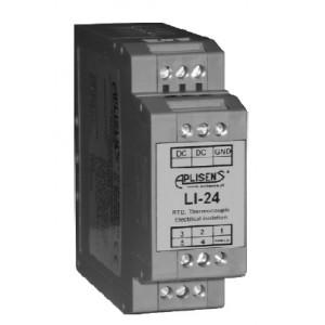 Převodník teploty typu LI-24, LI-24EX montáž na DIN lištu